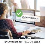 upload complete data uploading... | Shutterstock . vector #417041065