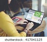 register enter membership sign... | Shutterstock . vector #417041125