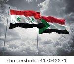 3d illustration of syria  ... | Shutterstock . vector #417042271