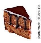 Close Up Of A Sacher Cake Cake