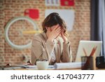 headache in office | Shutterstock . vector #417043777