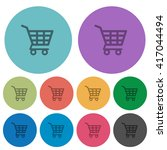 color shopping cart flat icon...