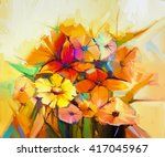 Abstract Oil Painting Of Sprin...