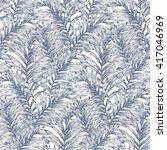 tropical retro palm leaves... | Shutterstock .eps vector #417046969