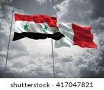 3d illustration of syria  ... | Shutterstock . vector #417047821