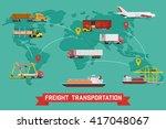 vector infographic of worldwide ... | Shutterstock .eps vector #417048067