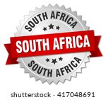south africa round silver badge ... | Shutterstock .eps vector #417048691