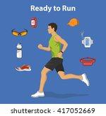 running man. running gear for... | Shutterstock .eps vector #417052669