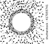 vector background of music notes | Shutterstock .eps vector #417055741