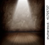 dark room with a beam of light | Shutterstock . vector #41705737