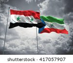 3d illustration of syria  ... | Shutterstock . vector #417057907
