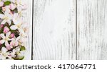 spring apple blossom on a old... | Shutterstock . vector #417064771