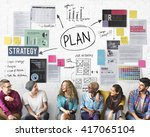 plan planning operations... | Shutterstock . vector #417065104