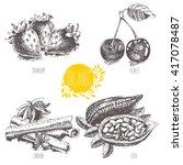 series   vector fruit ... | Shutterstock .eps vector #417078487