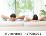 rear view of a couple relaxing... | Shutterstock . vector #417086011