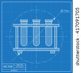 blueprint icon of laboratory... | Shutterstock .eps vector #417091705