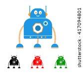 robot logo. kids robot. child... | Shutterstock .eps vector #417094801