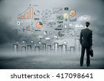 research concept with... | Shutterstock . vector #417098641