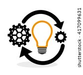process design. solution and... | Shutterstock .eps vector #417099631