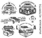 Set Of Lowrider Cars Low Rider...