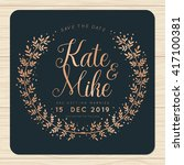 save the date  wedding... | Shutterstock .eps vector #417100381