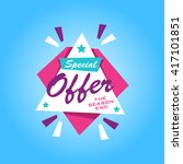 special offer sticker.... | Shutterstock .eps vector #417101851