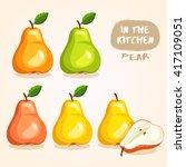 pear   fruit isolated set  ...   Shutterstock .eps vector #417109051