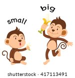 opposite words small and big... | Shutterstock .eps vector #417113491