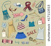 collection of vector images on ... | Shutterstock .eps vector #417113515