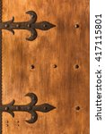 Aged Shutters Door Board With...