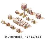 vector isometric icon set... | Shutterstock .eps vector #417117685