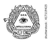 All Seeing Eye Inside Triangl...
