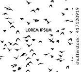 a flock of flying birds....   Shutterstock .eps vector #417120919