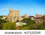 the round tower at windsor... | Shutterstock . vector #417123235