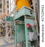 oil refinery  | Shutterstock . vector #417129421