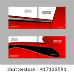 vector abstract template... | Shutterstock .eps vector #417133591