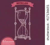 hand drawn hourglass. tattoo... | Shutterstock .eps vector #417136651