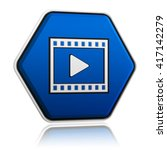 video player sign in 3d blue... | Shutterstock . vector #417142279