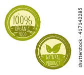 100 percent organic food and... | Shutterstock .eps vector #417142285