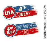 usa independence day and 4th of ... | Shutterstock .eps vector #417142291