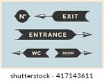 set of vintage arrows and... | Shutterstock .eps vector #417143611