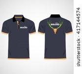 color men polo shirts. design... | Shutterstock .eps vector #417144574
