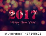 happy new year 2017  abstract... | Shutterstock . vector #417145621