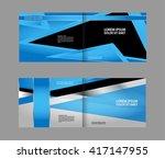 template for advertising blue... | Shutterstock .eps vector #417147955