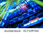 fiber optic with servers in a... | Shutterstock . vector #417149764