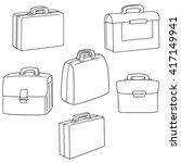 vector set of briefcase | Shutterstock .eps vector #417149941