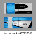 business blue brochure flyer... | Shutterstock .eps vector #417153961