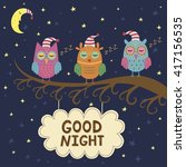Good Night Card With Cute...