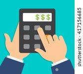 vector business or finance... | Shutterstock .eps vector #417156685