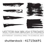 set of vector black pen ink... | Shutterstock .eps vector #417156691